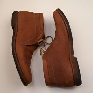 ALLEN EDMONDS Ranch-Skos Leather Tan Brown Sz 14 A